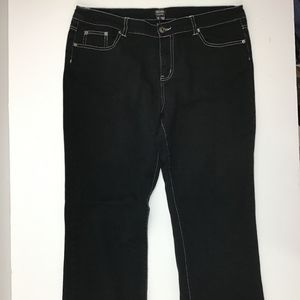 Nicole Miller Womens Jeans Size 12 Black (z7)^